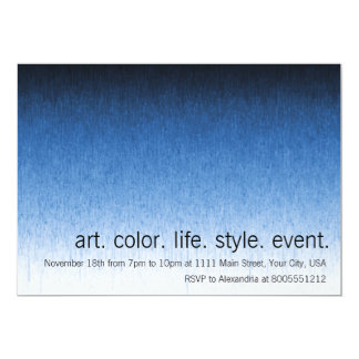 Rainy Day Ombre Custom Event 13 Cm X 18 Cm Invitation Card