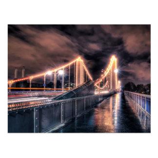 Rainy day on Chelsea Bridge, London Postcard