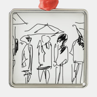 Rainy day products christmas ornament