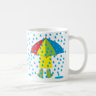rainy day, Rainy Days go well with Hot Chocolate! Basic White Mug