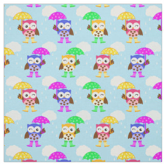 Rainy Day School Owl Fabric