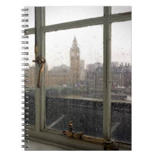 Rainy Day View on Big Ben - London Notebook