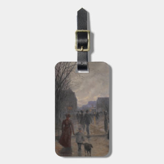 Rainy Evening on Hennepin Avenue, c.1902 Bag Tag