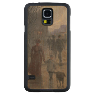 Rainy Evening on Hennepin Avenue, c.1902 Carved Maple Galaxy S5 Case
