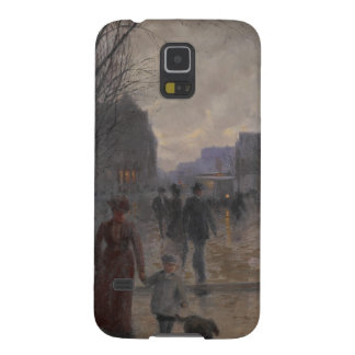 Rainy Evening on Hennepin Avenue, c.1902 Cases For Galaxy S5