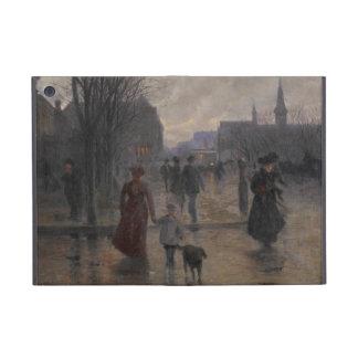 Rainy Evening on Hennepin Avenue, c.1902 Cover For iPad Mini