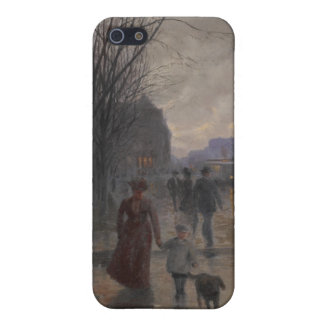Rainy Evening on Hennepin Avenue, c.1902 iPhone 5 Case