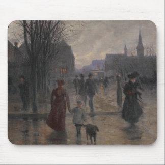 Rainy Evening on Hennepin Avenue, c.1902 Mouse Mat