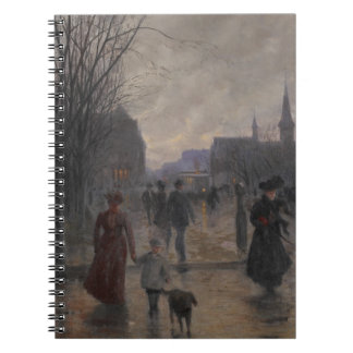 Rainy Evening on Hennepin Avenue, c.1902 Notebooks