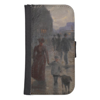 Rainy Evening on Hennepin Avenue, c.1902 Samsung S4 Wallet Case