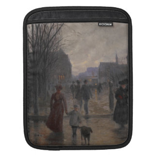 Rainy Evening on Hennepin Avenue, c.1902 Sleeve For iPads