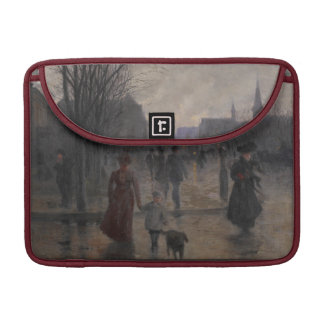 Rainy Evening on Hennepin Avenue, c.1902 Sleeve For MacBook Pro