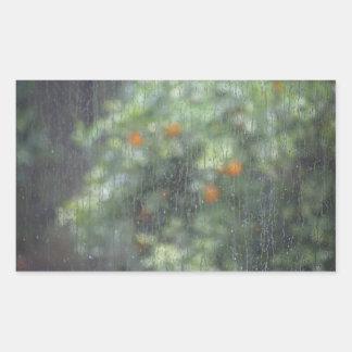 Rainy Oranges 1 Rectangular Sticker