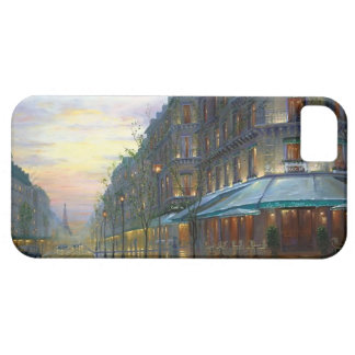 rainy parisian street iphone case