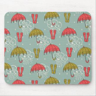 Rainy Season Umbrella Design Mouse Pad