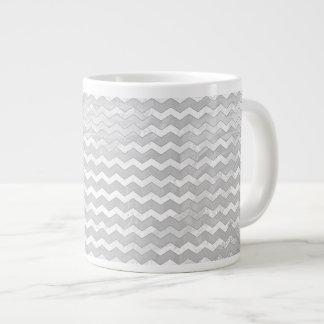 Rainy Sky Gray Chevron Pattern Jumbo Mug