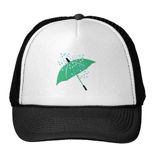 Rainy Umbrella Mesh Hats