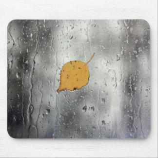 Rainy window with leaf mouse pad
