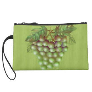 RAISAIN GRAPES FRUIT  Sueded Mini Clutch Wristlet Purses