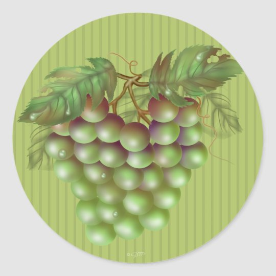 RAISAIN GRAPES  ROUND Small, 1½ inch (sheet of 20) Classic Round Sticker