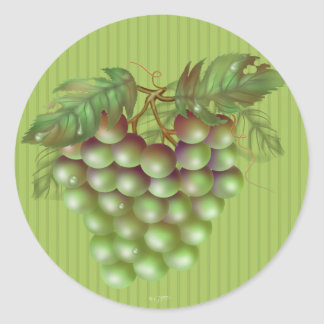 RAISAIN GRAPES  ROUND Small, 1½ inch sheet of 20 M Classic Round Sticker