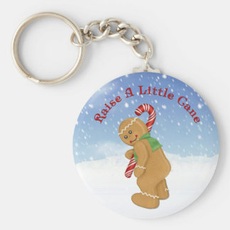 Raise A Little Cane Humor Basic Round Button Key Ring