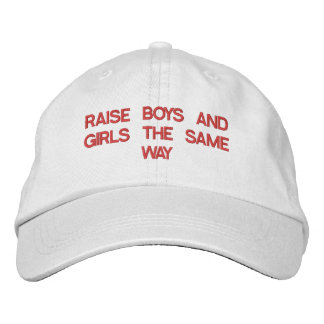 RAISE BOYS AND GIRLS THE SAME CAP EMBROIDERED BASEBALL CAP