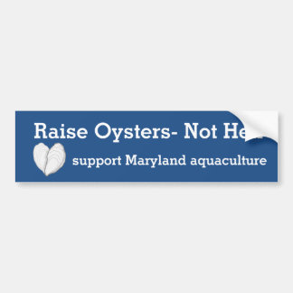 Raise Oysters-Not Hell. Bumper Sticker