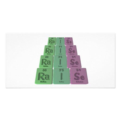 Raise-Ra-I-Se-Radium-Iodine-Selenium.png Personalized Photo Card
