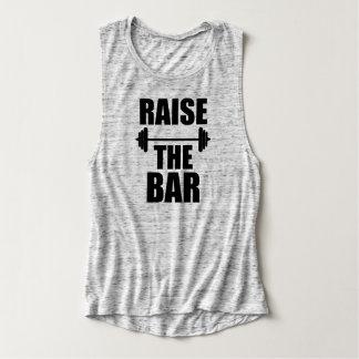 Raise the Bar funny fitness gym saying shirt