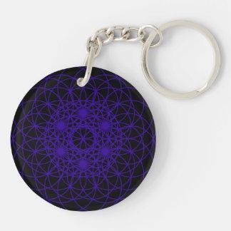 """Raise The Chakra """"Balance"""" Double-Sided Round Acrylic Key Ring"""