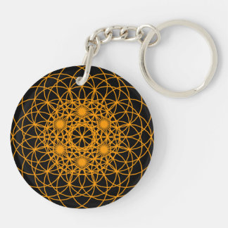 "Raise The Chakra ""Creation"" Double-Sided Round Acrylic Key Ring"
