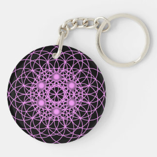 "Raise The Chakra ""Peace & Wisdom"" Double-Sided Round Acrylic Key Ring"