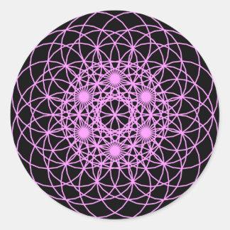 "Raise The Chakra ""Peace & Wisdom"" Round Sticker"