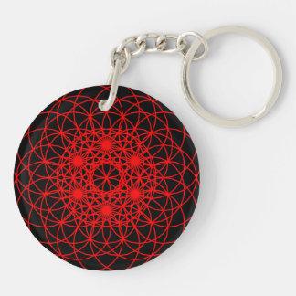 """Raise The Chakra """"Spirit"""" Double-Sided Round Acrylic Key Ring"""