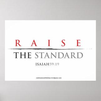 Raise The Standard 36x24 poster