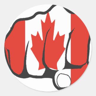Raise Yer Fist CANADA Classic Round Sticker