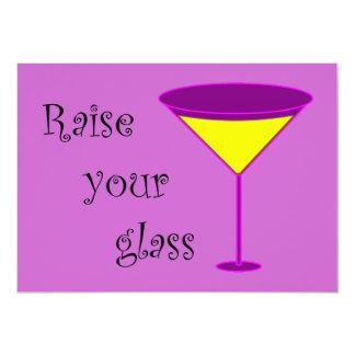 Raise Your Glass Divorce Party Invitation