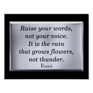 Raise your words -- art print