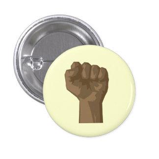 Raised Black Fist 3 Cm Round Badge