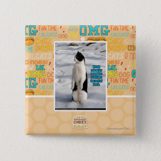 Raised by Penguins 15 Cm Square Badge