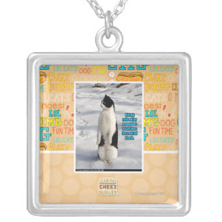 Raised by Penguins Silver Plated Necklace