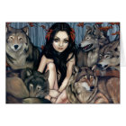 """""""Raised by Wolves"""" Greeting Card"""