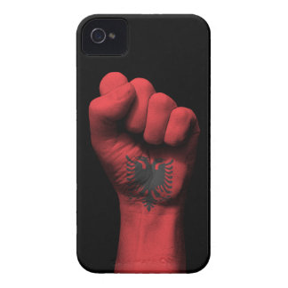 Raised Clenched Fist with Albanian Flag iPhone 4 Case