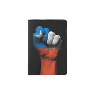 Raised Clenched Fist with Chilean Flag Passport Holder
