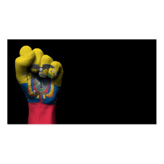 Raised Clenched Fist with Ecuadorian Flag Pack Of Standard Business Cards