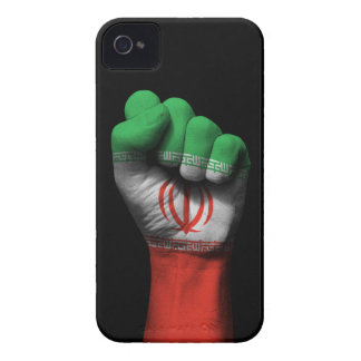 Raised Clenched Fist with Iranian Flag iPhone 4 Case-Mate Case