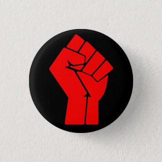 Raised Fist 3 Cm Round Badge