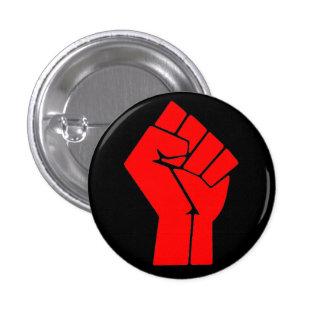Raised Fist 3 Cm Round Badge