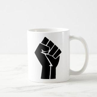 Raised Fist / Black Power Symbol Basic White Mug